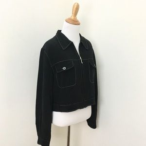 Vintage Via Seta Cropped Jacket